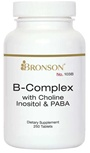 Nutritional Supplement B-Complex with Choline, Inositol & Paba  100 Tablets for Diabetic Neuropathy By Bronson – 103A