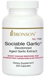 Nutritional Supplement Sociable Garlic for Immune Support By Bronson – 119A