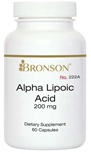 Nutritional Supplement Alpha-Lipoic Acid 200mg for Diabetic Neuropathy By Bronson – 222A
