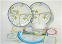 Basic FOCUS Portion Control Set for 2 Porcelain Plates, Bowls & Nutrition Info.