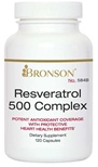 Nutritional Supplement Resveratrol 500 Complex for CardioVascular Health By Bronson – 584A