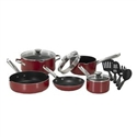 WearEver A827SC64 Cookware Set - Red (10pcs)