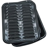 Range Kleen Porcelain Broiler Pan with Grill - BP102X