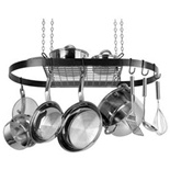 Range Kleen Black Oval Pot Rack - CW6000