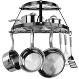 Range Kleen 2 Shelf Wall Mount Black Pot Rack - CW6002