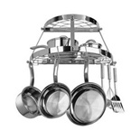 Range Kleen 2 Shelf Wall Mount Stainless Steel Pot Rack - CW6004