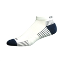 Ecosox Diabetic Bamboo Lo-Cut Socks White/Navy LG