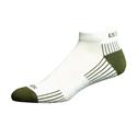 Ecosox Diabetic Bamboo Lo-Cut Socks White/Olive LG
