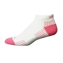 Ecosox Diabetic Bamboo Lo-Cut Socks White/Pink