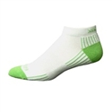 Ecosox Diabetic Bamboo Lo-Cut Socks White/Green MD