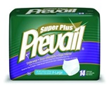 "Prevail Super Plus Underwear - XLarge; Fits 58 - 68"", Case of 56"