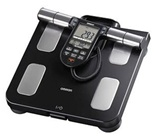 Body fat monitors and weight scale