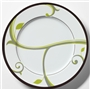 LIFE-Style Portion Control Plate, Porcelain China - Slightly Irregular